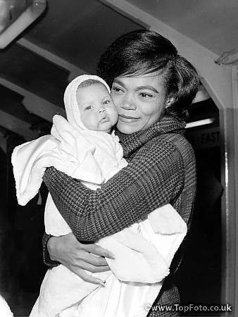 Precious pic of Eartha Kitt and her baby girl Kitt McDonald | Tumblr