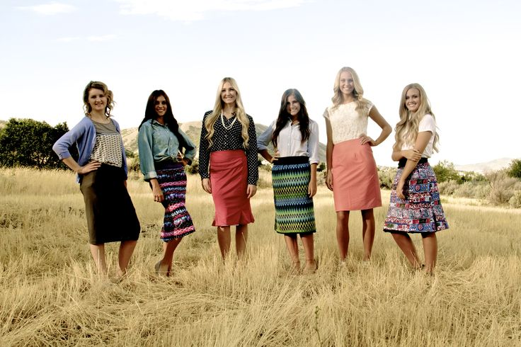 Reversible skirts designed for sister missionaries and everyone else who needs an adorable, affordable modest skirt!