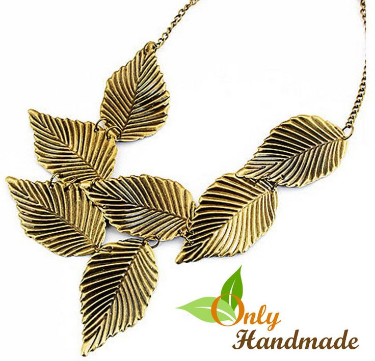 Tribal Gold Leaf Necklace