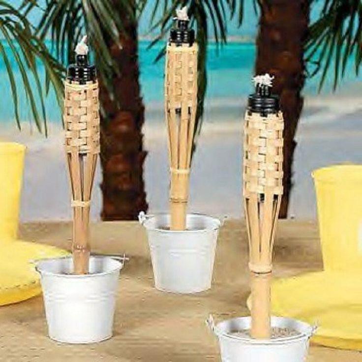 Amazon.com : Mini Bamboo Tiki Torches (Case Of 12) : Landscape Torch Lights : Patio, Lawn & Garden