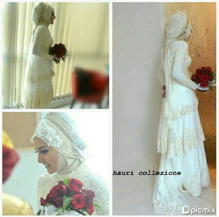 Hauri muslim wedding dress