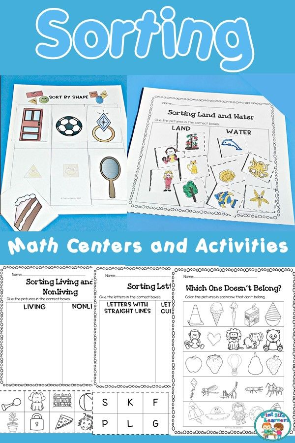 sorting by attributes center activities and worksheets pint size learners teaching resources. Black Bedroom Furniture Sets. Home Design Ideas