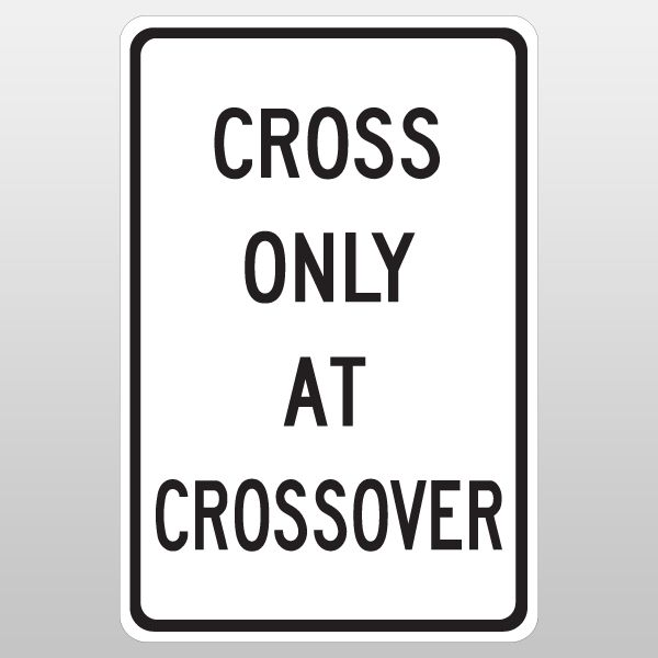 Cross only at crossover