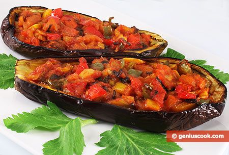How to Make Baked Eggplant Boats with Vegetables | Dietary Cookery | Genius cook - Healthy Nutrition, Tasty Food, Simple Recipes