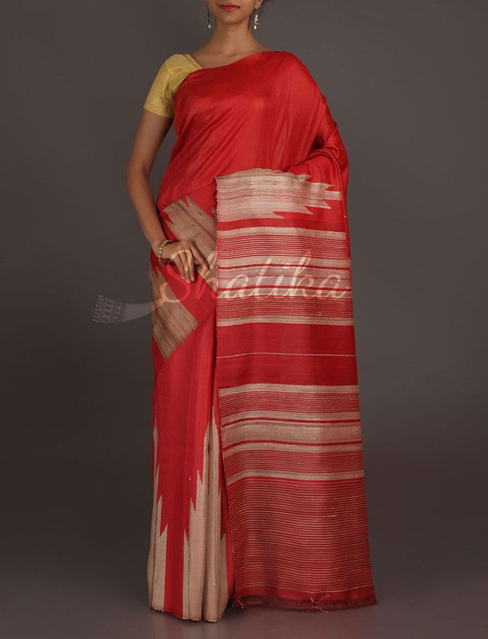 Rachana Textured Tadka Temple Border #Matkasilksaree