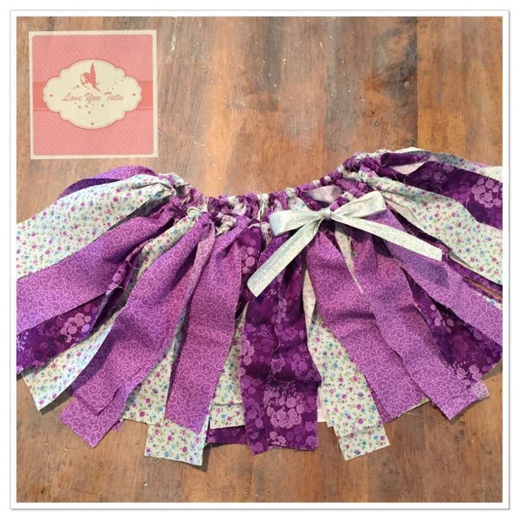 purple shabby tutu