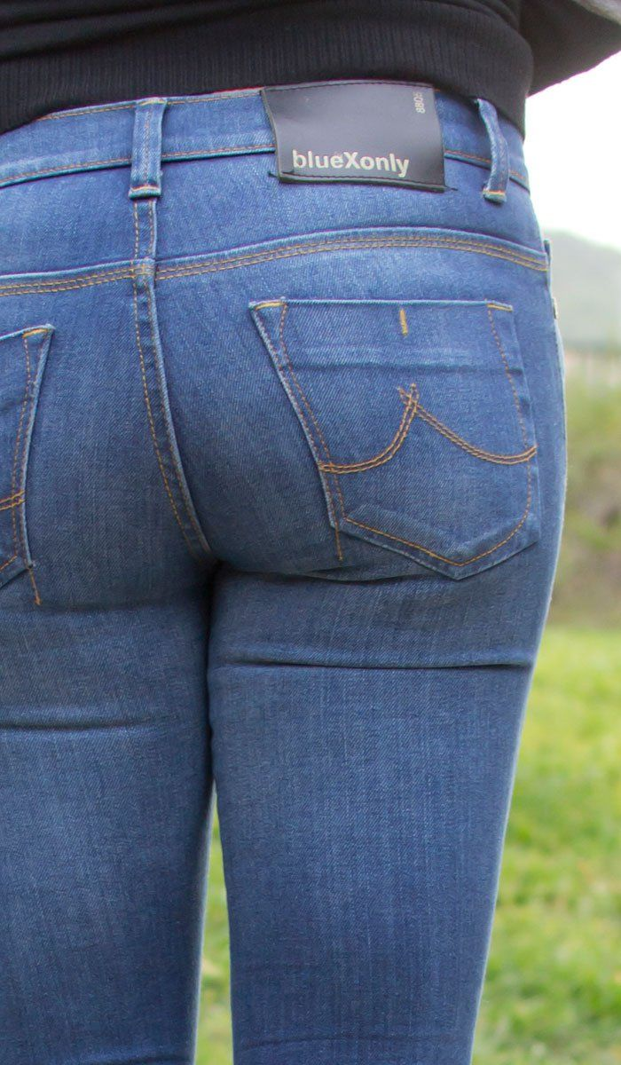 Denim Expert BlueXonly Skinny Leg Jeans Review - Back Detail View