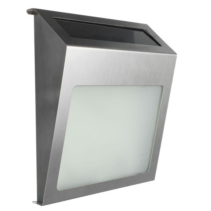 Movido a energia solar 3 LED iluminada casa de luz número parede porta placa lâmpada inoxidável