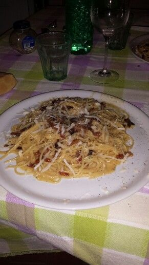 La magica carbonara di mr. Franco Righi... una serata tra amici.