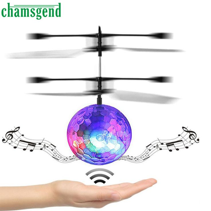 Chamsgend RC Toy EpochAir RC Flying Ball RC Drone Helicopter Ball Built-in Disco Music With Shinning LED Lighting for Kids Dec13 //Price: $8.06//     #shopping