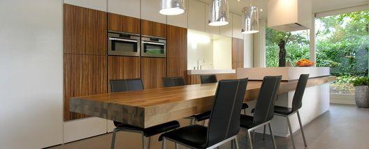Eettafel kookeiland idee n voor het huis pinterest eettafel keuken en keukens - Keuken oud land ...