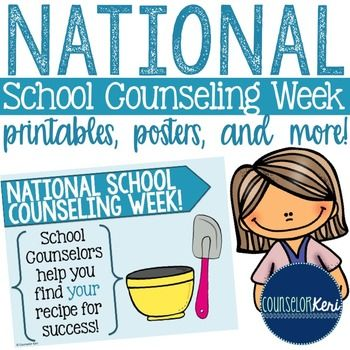 This National School Counseling Week printable pack includes: -2 posters -Certificate of appreciation -I love being your School Counselor because… printable -School Counselors are… printable -Bookmark (color & b/w)