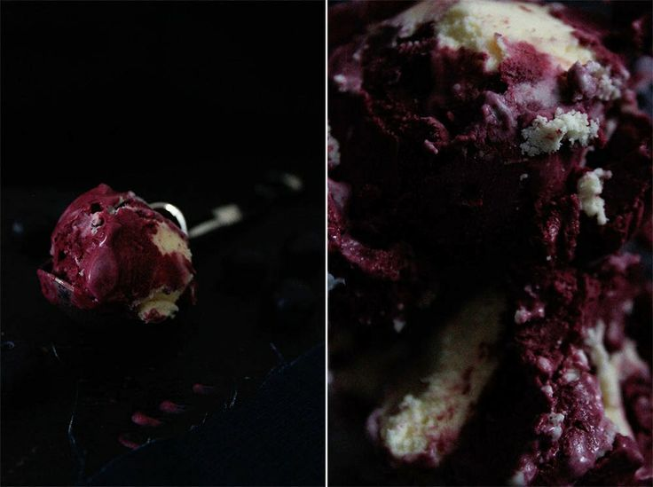Buttermilk and Black Currant Ice Cream.