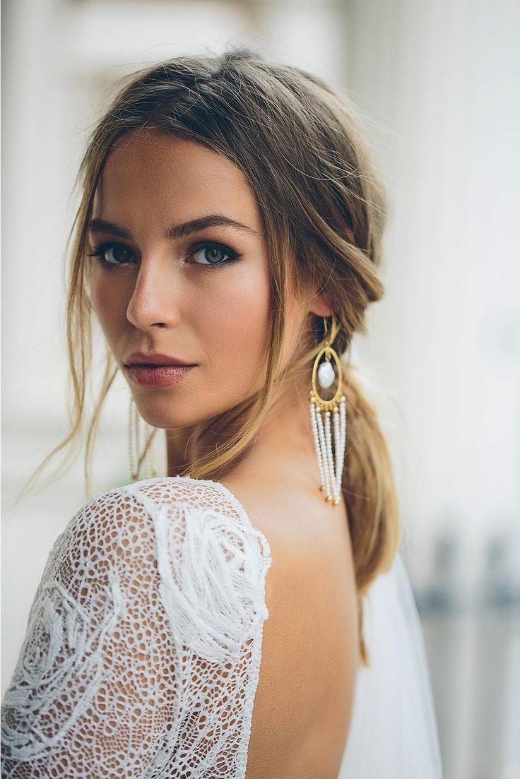 Amilla Ohrringe Lila Perle Silber | Brautschmuck | Grace liebt Spitze – Hochzei …   – Makeup