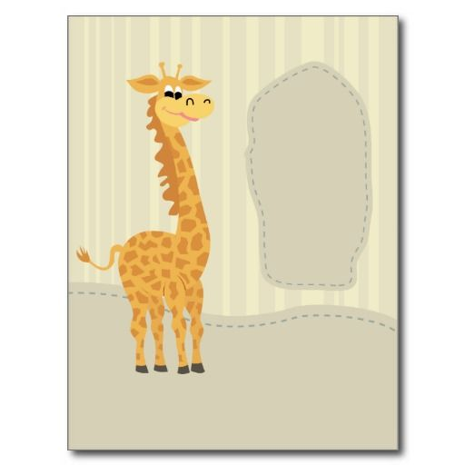 Funny giraffe postcards