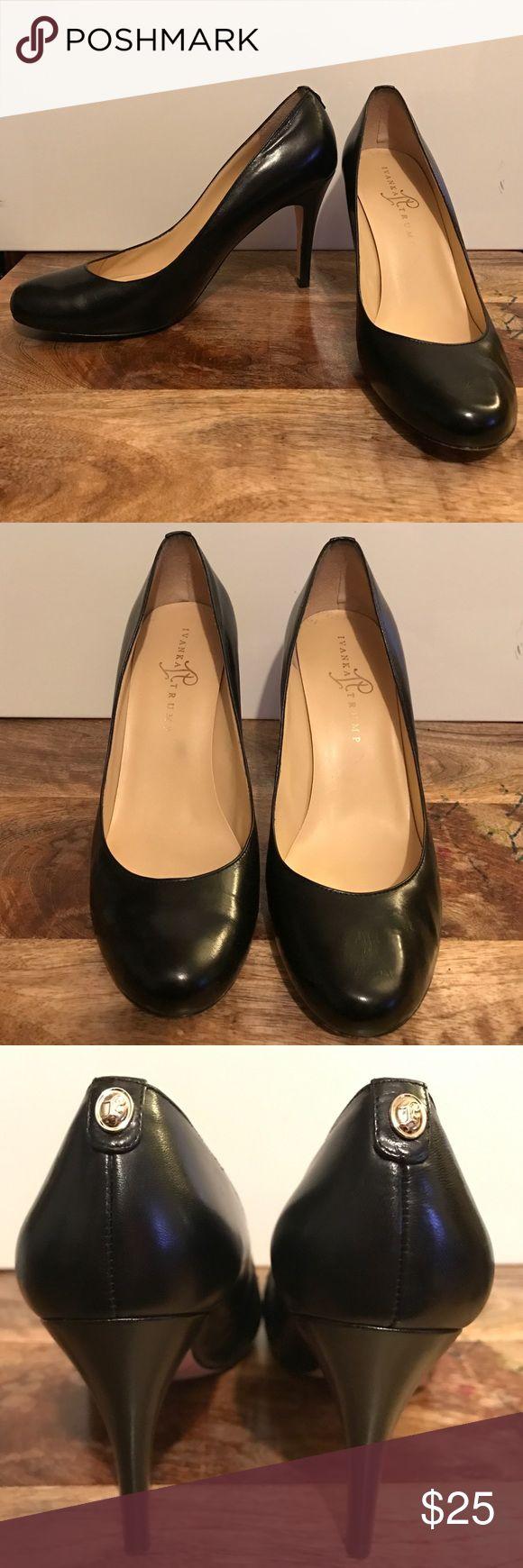 Ivank Trump black pumps Black round toe pumps. Gently used. Ivanka Trump Shoes Heels