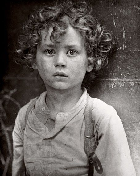::::::::: Vintage Photograph :::::::::: Precious sweet one and much, much too young to be working.  Paris Circa 1918  By Lewis Hine