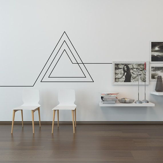 Living Room Wall Decal: Endless Geometric Triangle