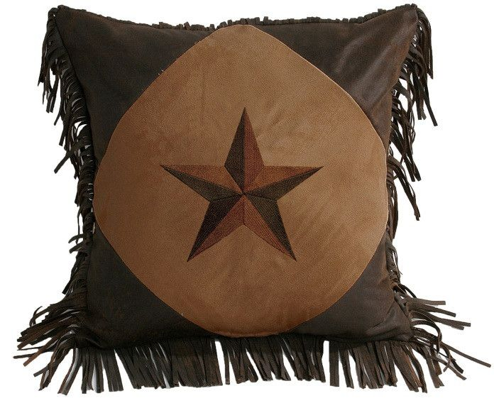 (HXWS2018P5TN) Diamond Shape Star Accent Pillow Dark Tan