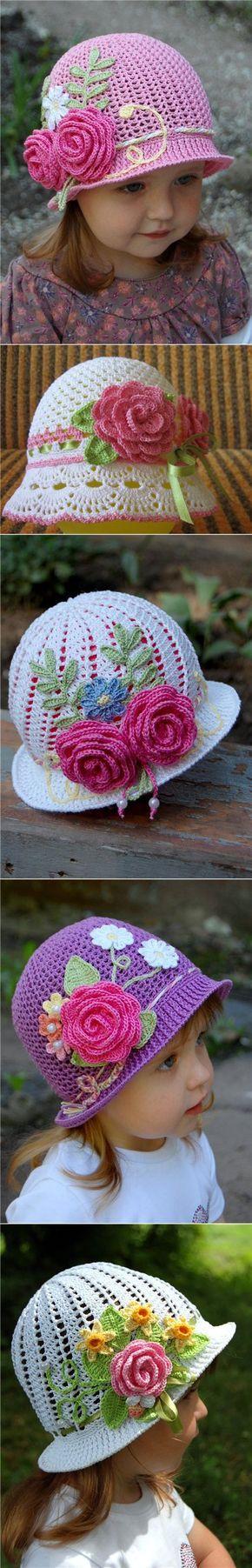 Las panameñas veraniegas infantiles por el gancho. El sombrero de señora la panameña para la muchacha por el gancho | Todo sobre la costura: los esquemas, el maestro las clases, la idea en el sitio labhousehold.com