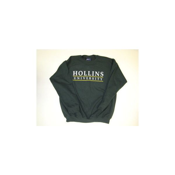 Hollins University Bookshop : CREW SWEAT SHIRT ❤ liked on Polyvore featuring tops, crew top, crew-neck tops and crew neck tops