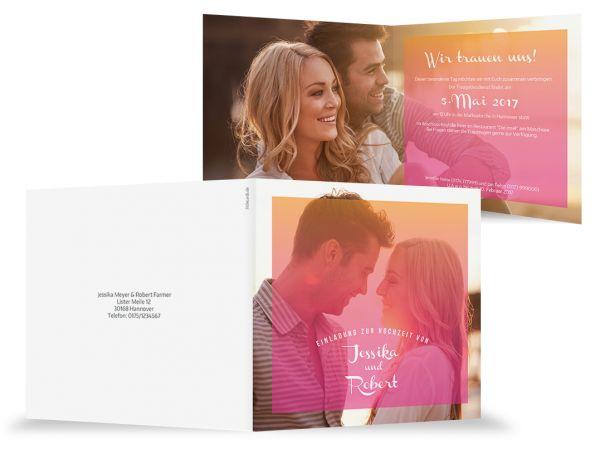 Einladungskarte Hochzeit Eternal Love
