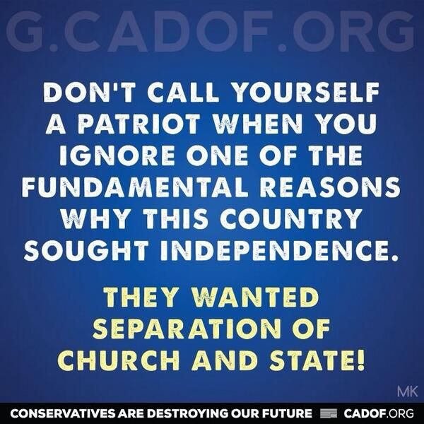 What are the top 4 or 5 reasons Against Separation between Church and State?