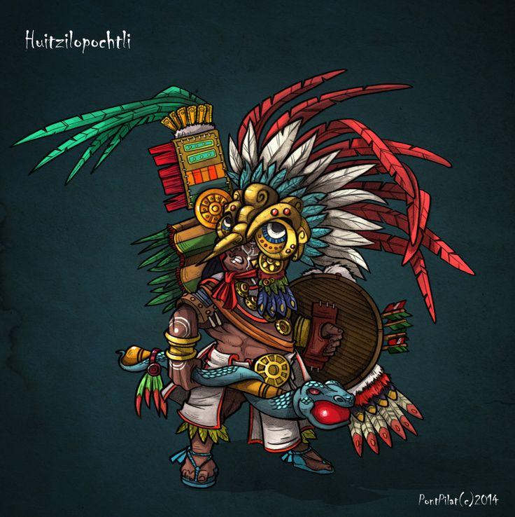 Huitzilopochtli Tattoo Design