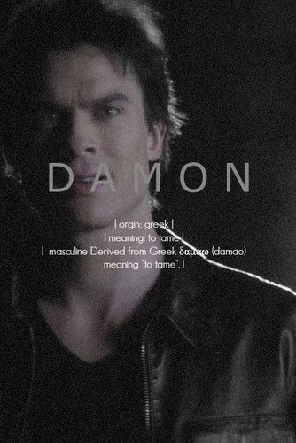2771 best damon salvatore images on pinterest the for Domon name meaning
