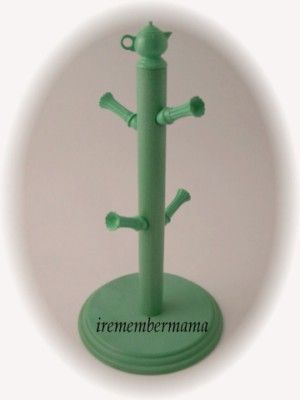 Genuine Fiesta® Accessories Retired Sea Mist Green Mug Tree. Manufactured 1997 by Copco. Fiesta® Accessories are Licensed & Authorized by The Homer Laughlin China Company for the Fiesta® Dinnerware inspired product line   WorthPoint