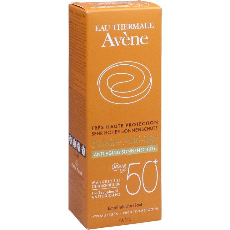 AVENE SunSitive Anti-Aging Sonnenemulsion SPF 50+:   Packungsinhalt: 50 ml Emulsion PZN: 11479678 Hersteller: PIERRE FABRE DERMO KOSMETIK…