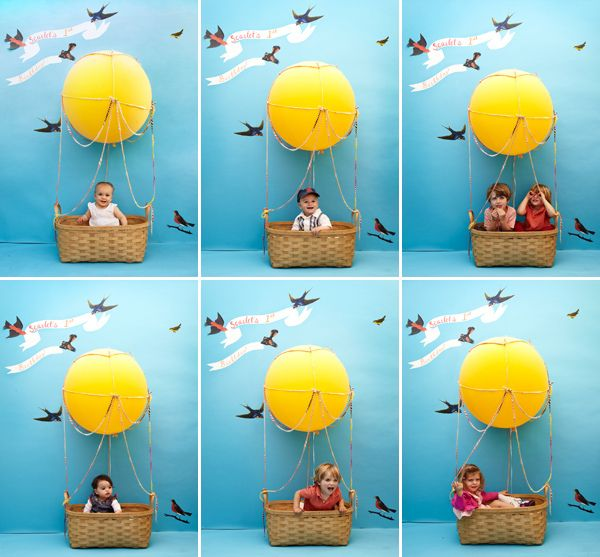 huge hot air balloon advertising | What an adorable and fun idea for a kid's birthday party or even a ...