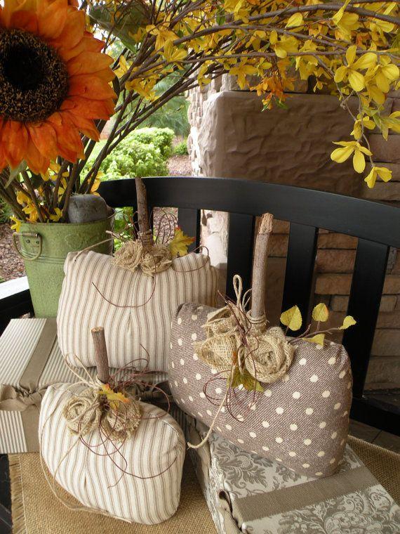 Burlap Pumpkins: