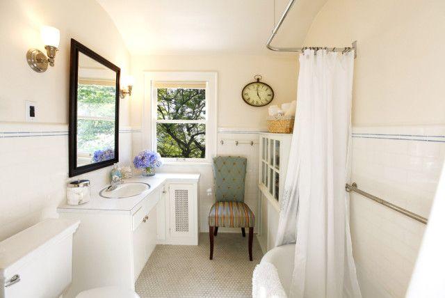 small elegant bathroom natural light