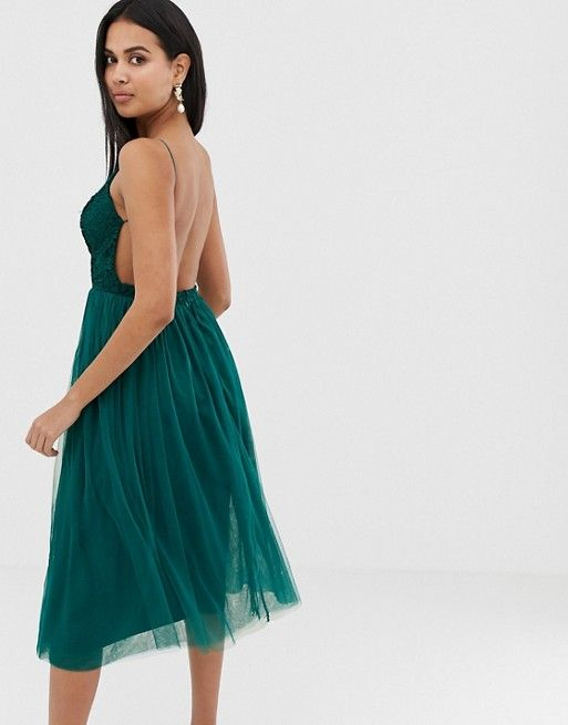 780384022895 DESIGN lace top tulle midi dress in 2019 | Clothesss | Dresses, Asos ...