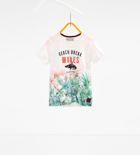 ZARA - ENFANTS - T-shirt imprimé requin