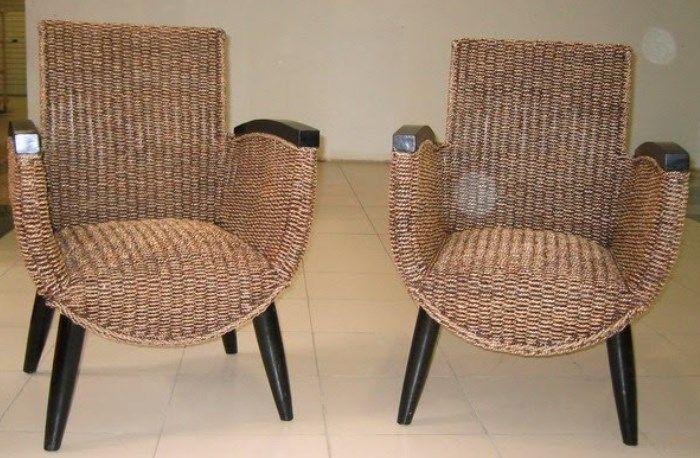 Desain kursi teras minimalis dari rotan