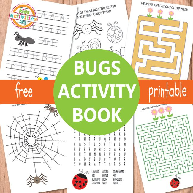 Kids Activities Blog~ Bug Activity Sheets Free Printables for Kids