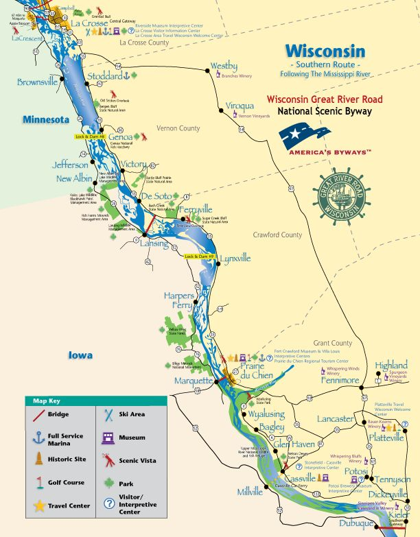 1000 images about VISITOR INFO for the Wisconsin Great River Road – Wisconsin Travel Map