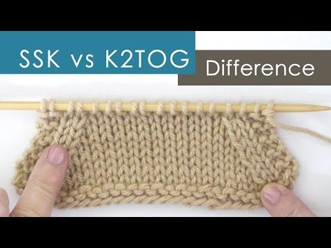 SSK vs K2TOG Decreases: What's the Difference? | Studio Knit