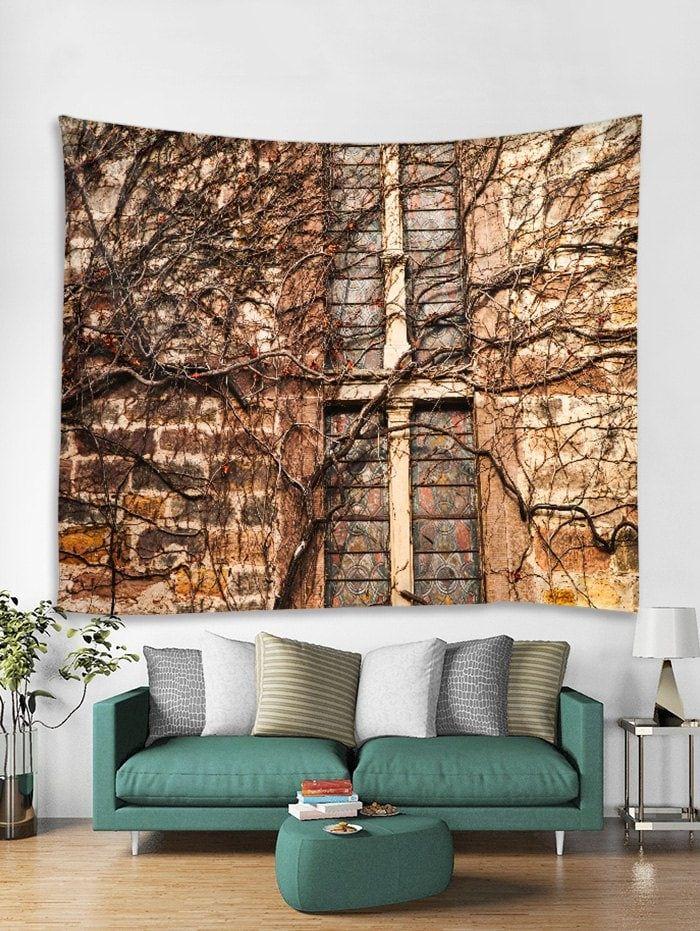 Retro Brick Wall Print Tapestry Wall Hanging Art Decoration