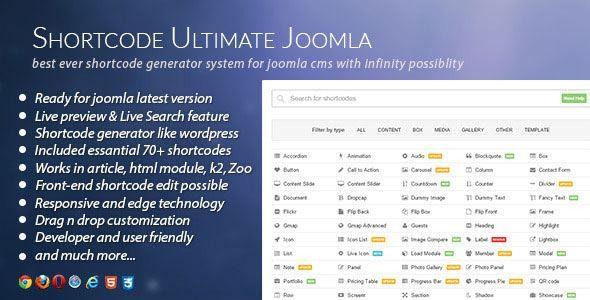 CodeCanyon - Shortcode Ultimate Plugin for Joomla Free Download