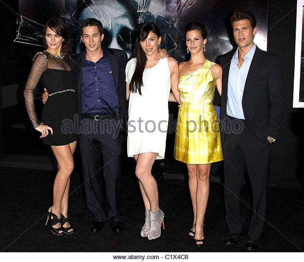 Shantel VanSanten(Lori Milligan), Bobby Campo(Nick O'Bannon), Krista Allen(Samantha Lane), Haley Webb(Janet Cunningham), Nick Zano(Hunt Wynorski) at the Final Destination 4 premiere.
