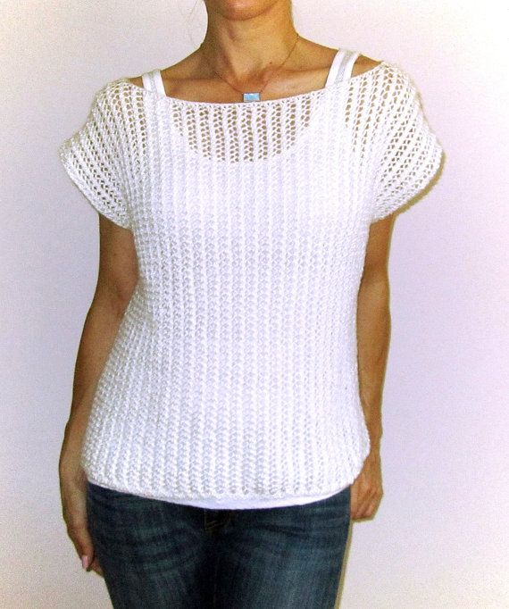 Mesh Poncho Sweater Knitting Pattern by chezpascale on Etsy