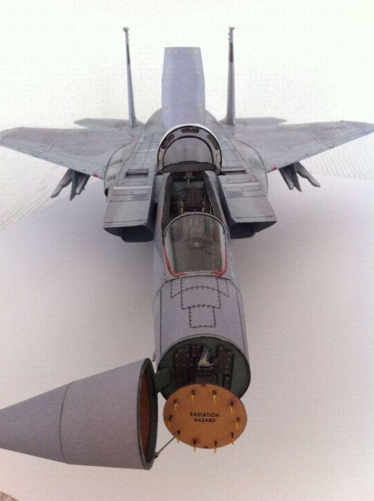 012 58.9 cm F15 Eagle fighter aircraft Paper Model detail version