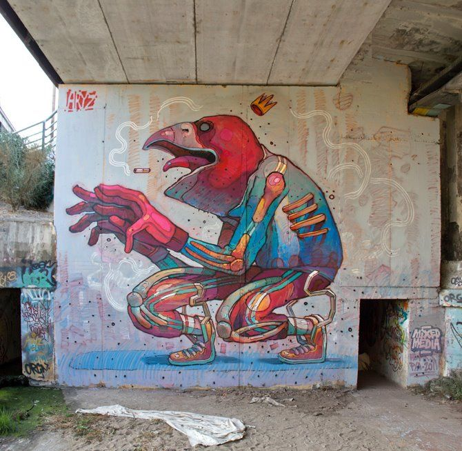 Mind-blowing aryz, street artists, urban artists, wall murals, graffiti art, great street art, great urban art online. http://www.mrpilgrim.co.uk/urban-artists-aryz/#.UpJfDMTwk6I