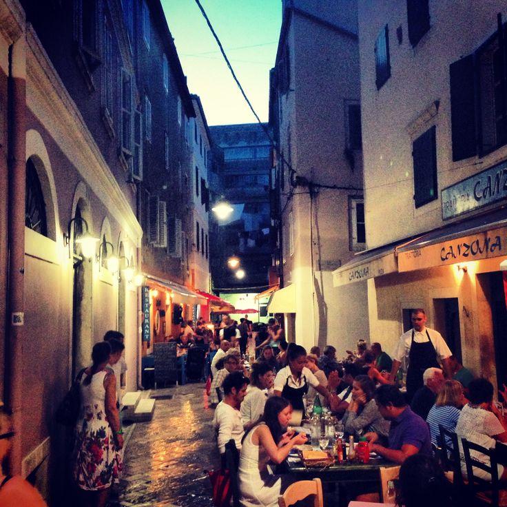 Night life in Zadar Croatia