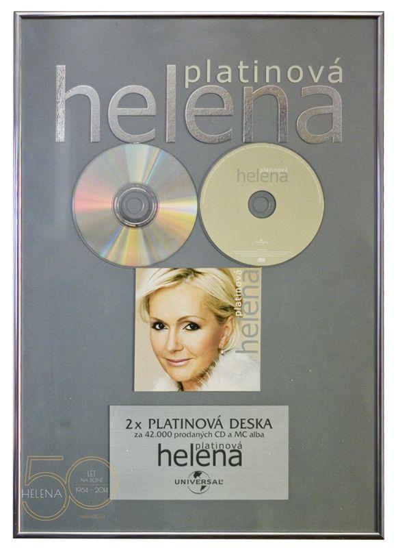 HELENA 50 LET NA SCÉNĚ | 2x platinová deska ... Platinová Helena