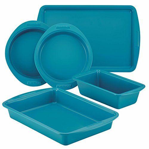 Traditional SilverStone 5-Piece Hybrid Ceramic Nonstick Bakeware Set, Marine Blue, ,