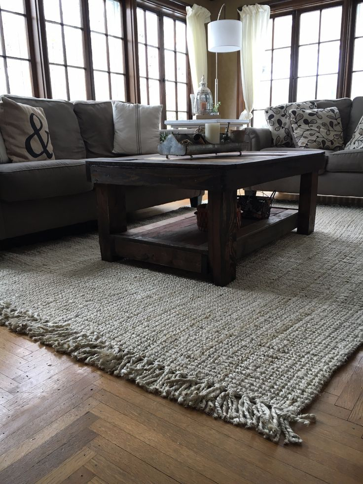 A lovely sun room with Rugs USAs Maui Chunky Loop Jute  Natural Fibers  Home Decor Room